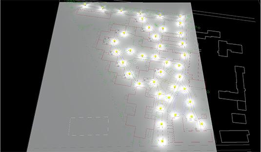 Lichtberechnung für eine größere Außenanlage