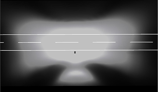 Darstellung einer Lichtverteilung für Verkehrsstraßen