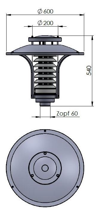 Graal Müritz Zeichnung Zopf 60